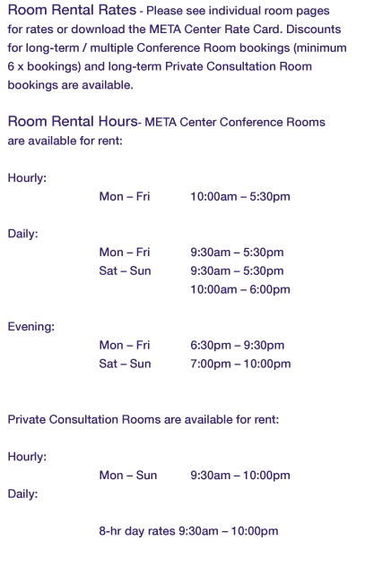 Room Rental Metacenter New York – Rent a Room Contract